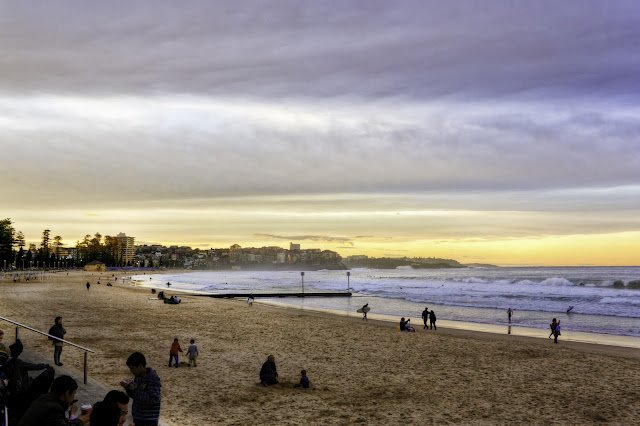 Misty Evening Manly Beach William Woodward