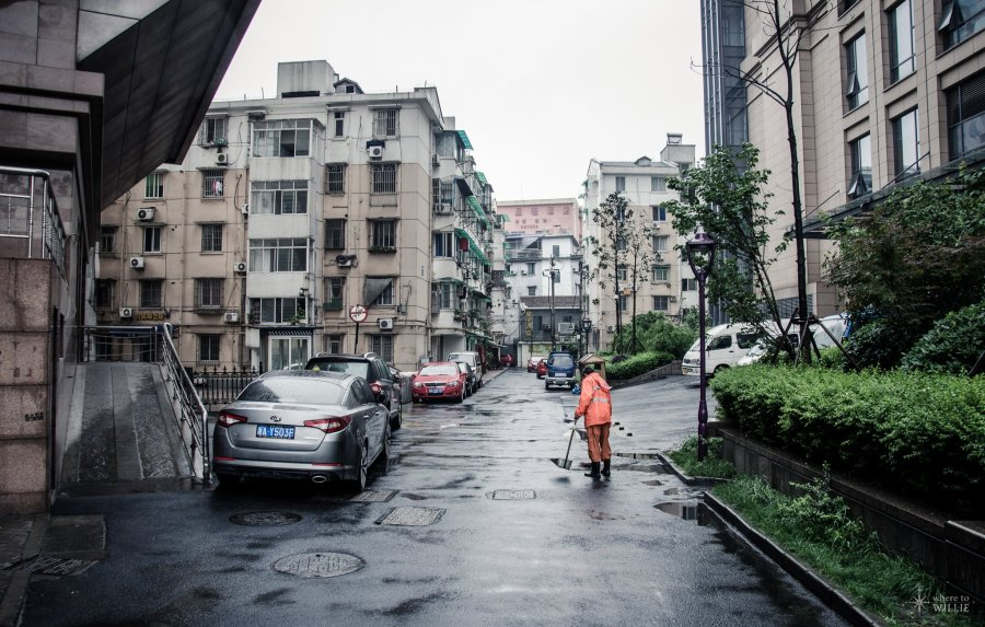 Street Sweeping Hangzhou William Woodward