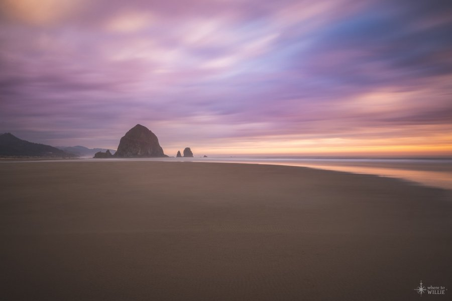 Thru the Mist Cannon Beach William Woodward