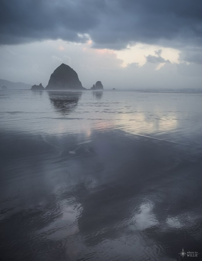 haystack rock storm william woodward