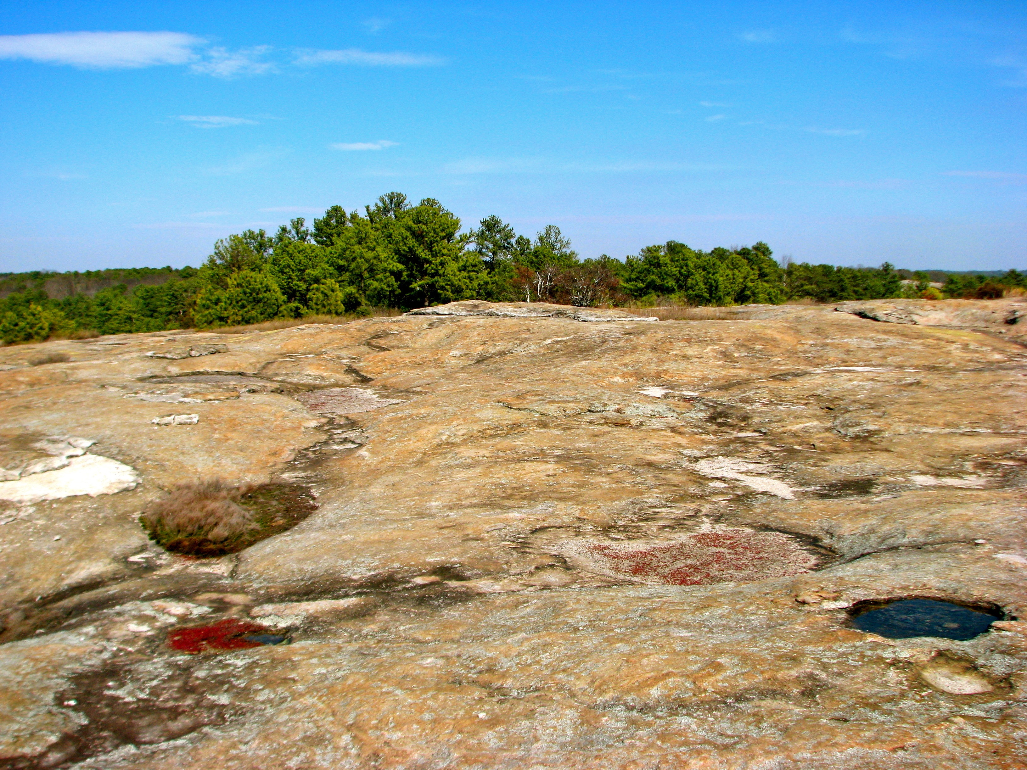 Many terms are used to refer to the top of a mountain, including cap, crest, mountaintop, peak, pinnacle and summit. Arabia Mountain Atlanta Wheretraveler