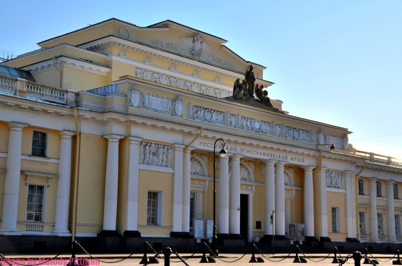 Architecture example in St. Petersburg.