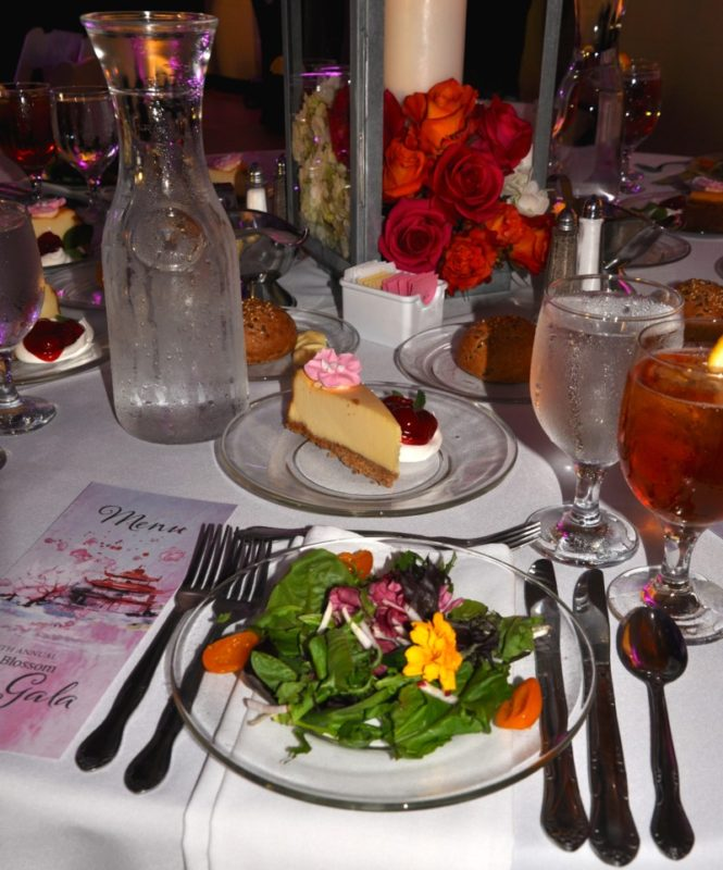 The Cherry Blossom Festival Gala in Macon, Georgia had gorgeous table settings.