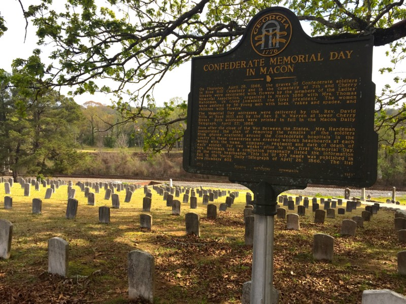 Amazing photo of the Civil War graves in the Riverside Cemetery, Macon.