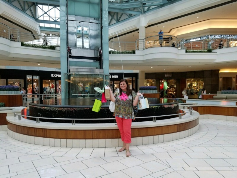 Here I am shopping at The Gardens Mall in Palm Beach Gardens, Florida.