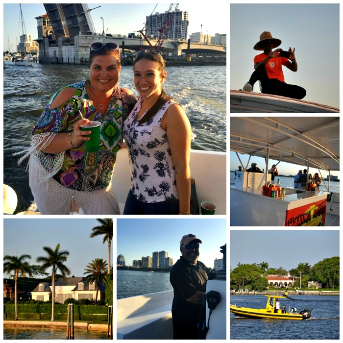 Melody Pittman on the sunset cruise in West Palm Beach on the Hakuna Matata.