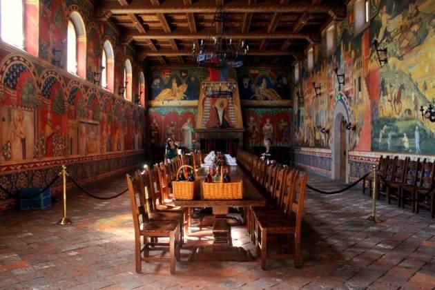 the Great Hall at Castello di Amorosa