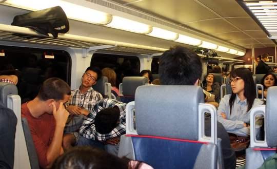 Everyone sleeping on Caltrain