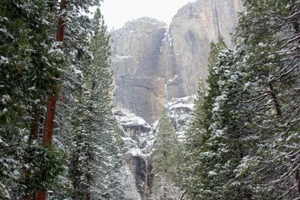 Yosemite National Park in snow