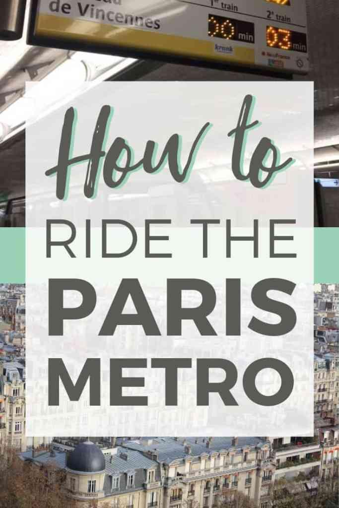 How to Ride the Paris Metro