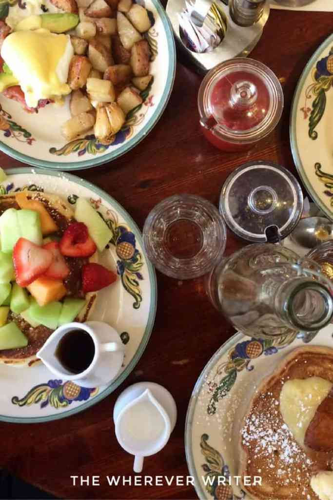 Zazie brunch in San Francisco - all the dishes