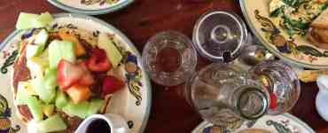 Zazie brunch items on the table