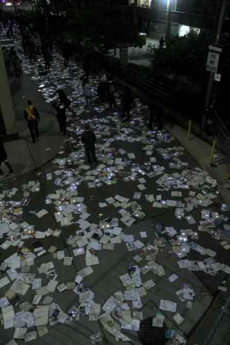 Nuit Blanche Toronto - Literature vs. Traffic overhead shot