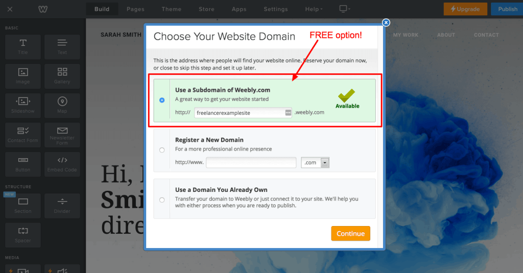 How to Build a Business Website for Free - Weebly Step 3