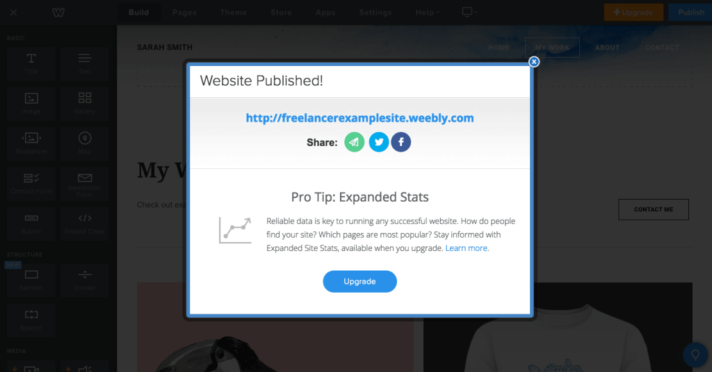 How to Build a Business Website for Free - Weebly Step 7