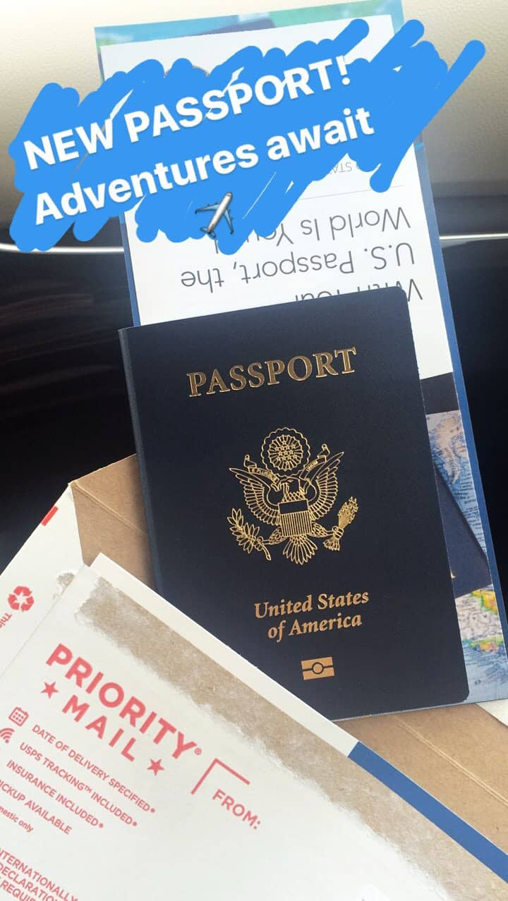 Us Passport Renewal Expedited  My New Passport Received In The Mail Via  Usps Priority Mail