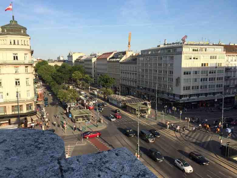 Vienna Opera House terrace