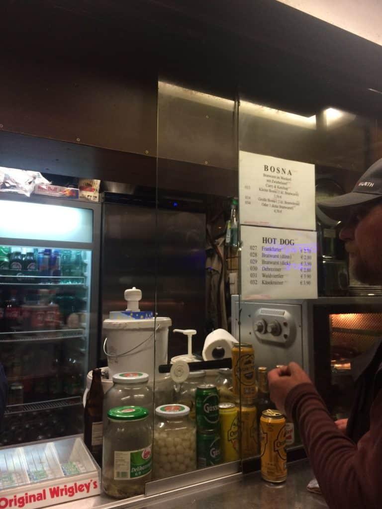 Würstelstand hot dog stand in Vienna near opera house 2