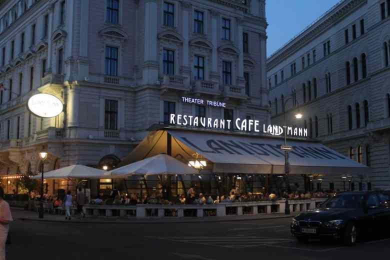 Standing Room Tickets Vienna Opera House - Cafe Landtmann exterior
