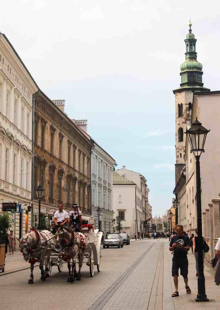 Eastern Europe Itinerary - Old Town Krakow with horse drawn carriage