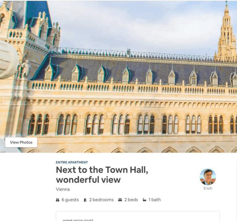 2 days in Vienna - Airbnb next to city hall