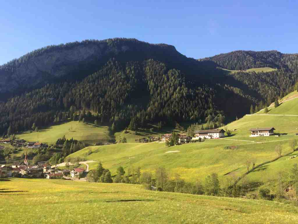 Train from Venice to Salzburg Brenner Pass view from the window 2