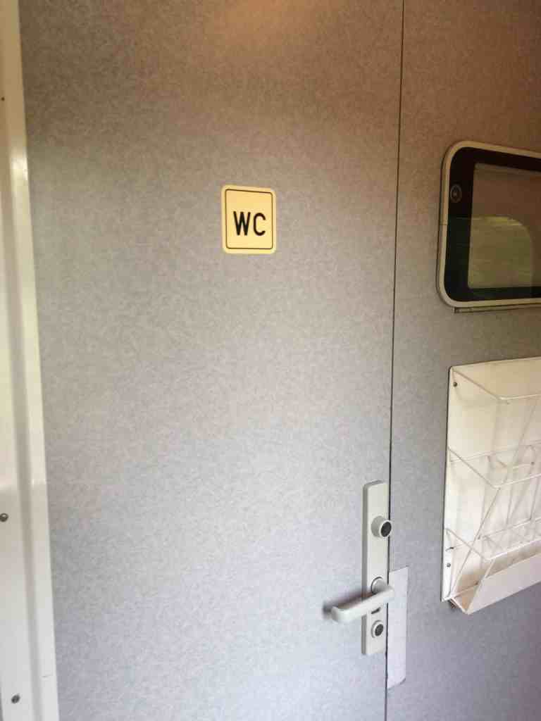 Train from Vienna to Budapest - Bathroom, WC, Water Closet