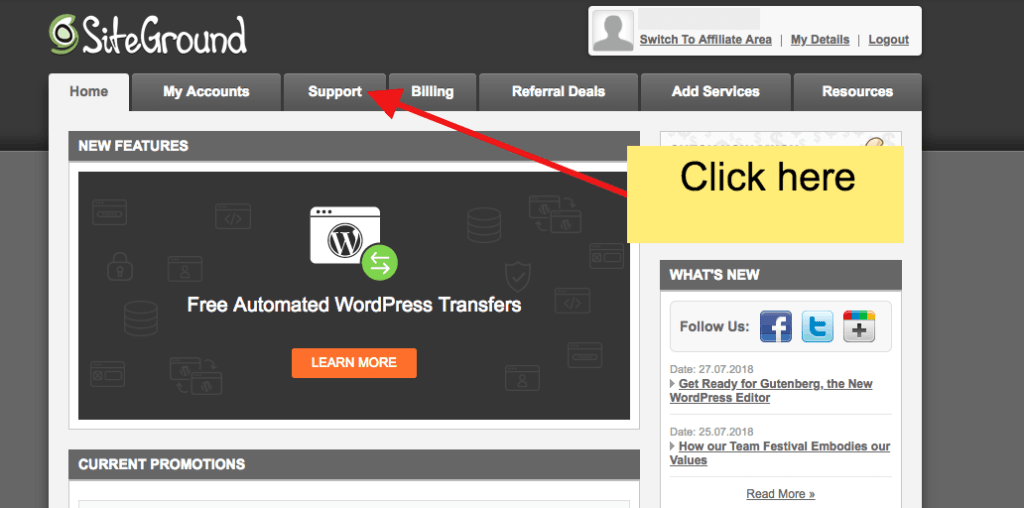 how to transfer website to new host- step 1