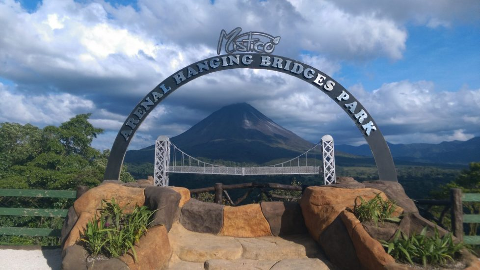 View of Arenal Volcano from Mistico Arenal Hanging Bridges Park.