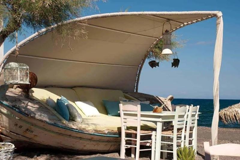 Luxury Loungers on Exo Gialos Beach