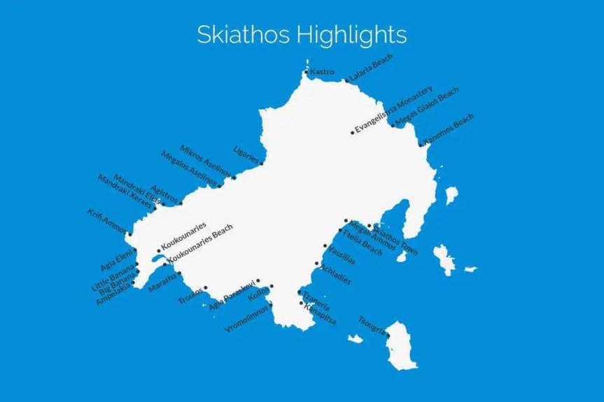 Skiathos Highlights Map