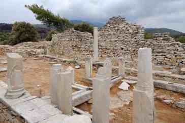 Archaeological Site Aliki Thassos