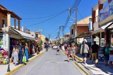Sidari Main Street Corfu