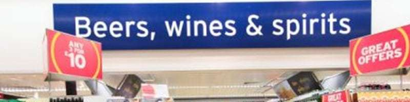 Alcohol offers Advertised in supermarket