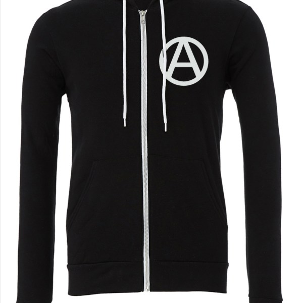 Circle-A-Upper-Black-Zipper-Hoodie-Front