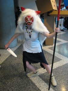 It's a wonderful Princess Mononoke cosplay.
