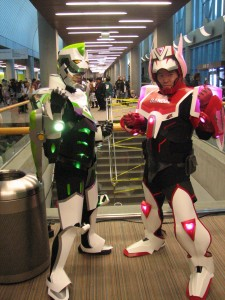 Epic Tiger and Bunny suit cosplay.