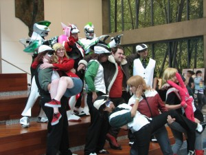 Tiger and Bunny (Barnaby Brooks, Jr.) gathering.