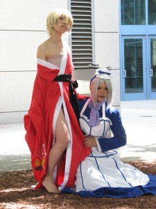 I believe this is Angela and Ash from Kuroshitsuji. Please comment and let me know who they are from Kuroshitsuji.