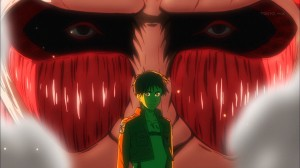 Eren and the armored titan