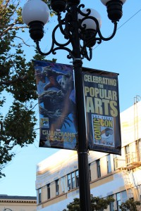 Banners around the Gaslamp District