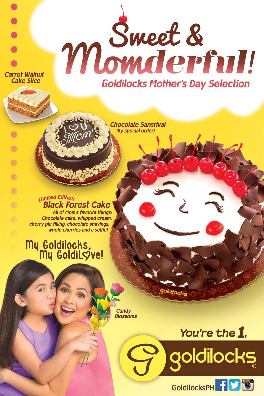 mother's day cake by Goldilocks