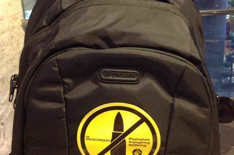 #LaglagBala no more, travel smart with PACSAFE
