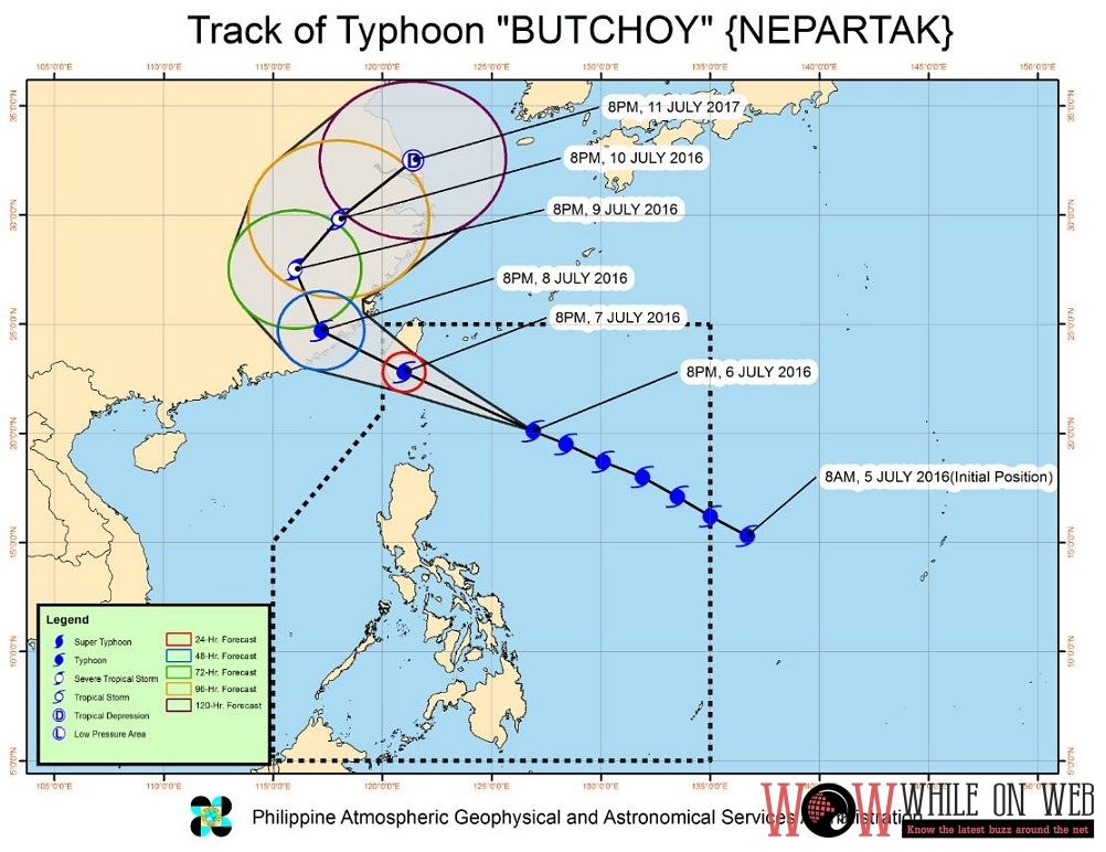 "Updated: PAGASA Weather Bulletin #5 TYPHOON ""BUTCHOY"""