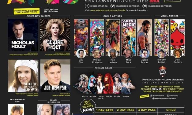 AsiaPOP Comicon Manila 2016 Hollywood celebrities line-up