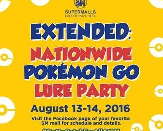 SM hosts Pokemon Go Lure Party