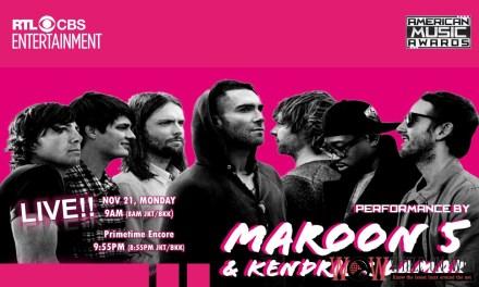 Maroon 5 featuring Kendrick Lamar to perform at 2016 American Music Awards