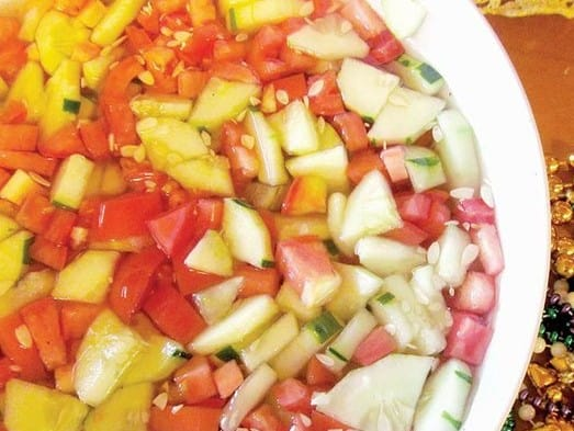 **Award Winning** Cucumber Tomato Salad