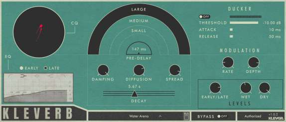 kleverb high quality algorithmic reverb effect