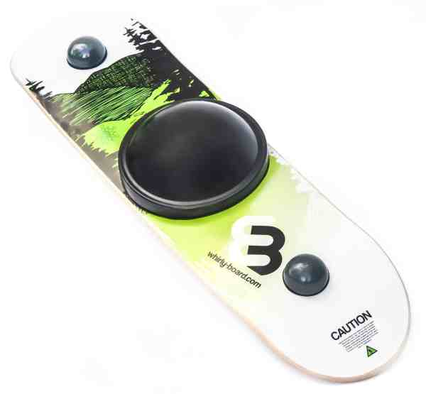 Whirly Board spinning balance board mountain printed deck with black center ball
